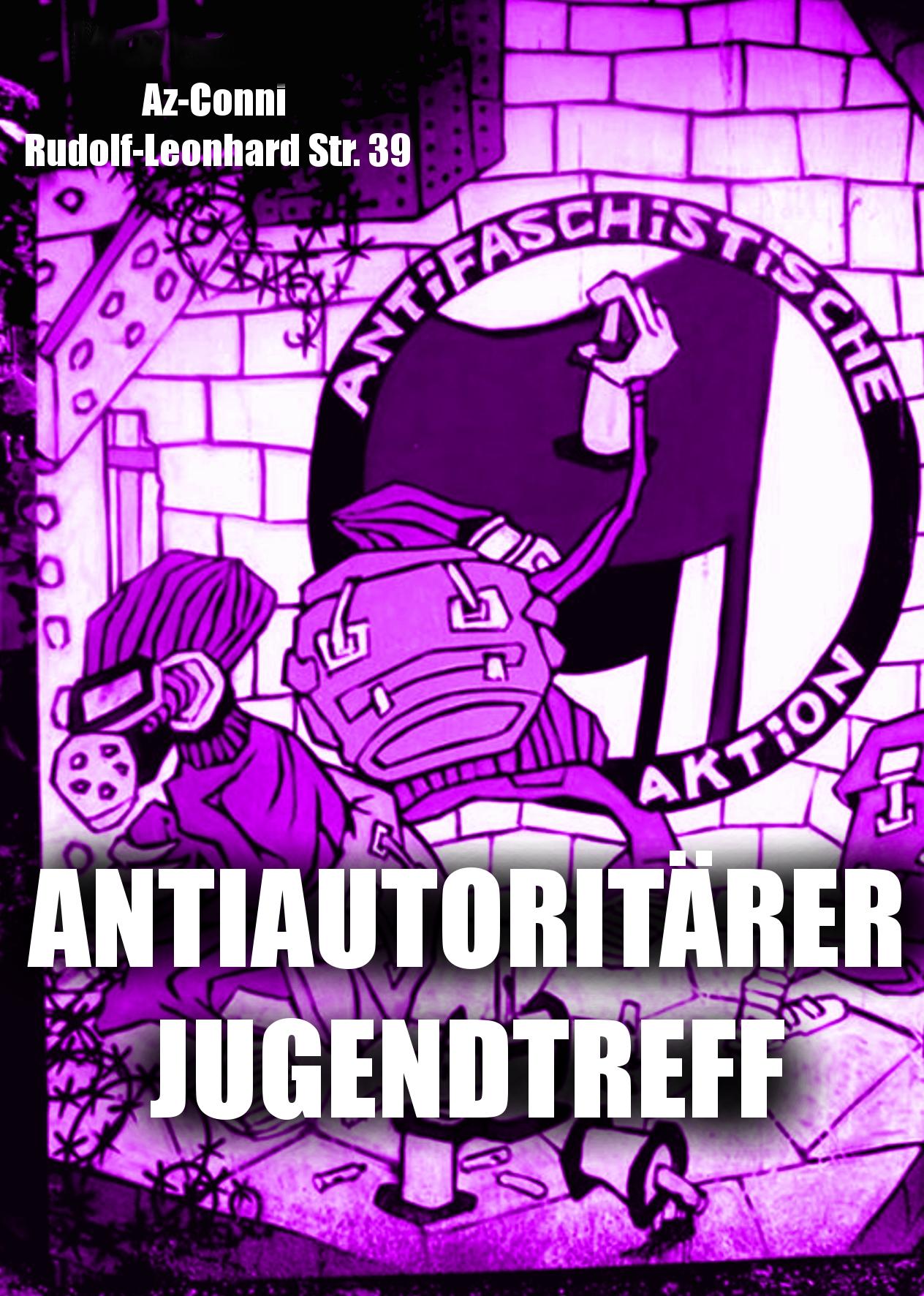 Grafik des antiautoritären Jugendtreffs Dresden