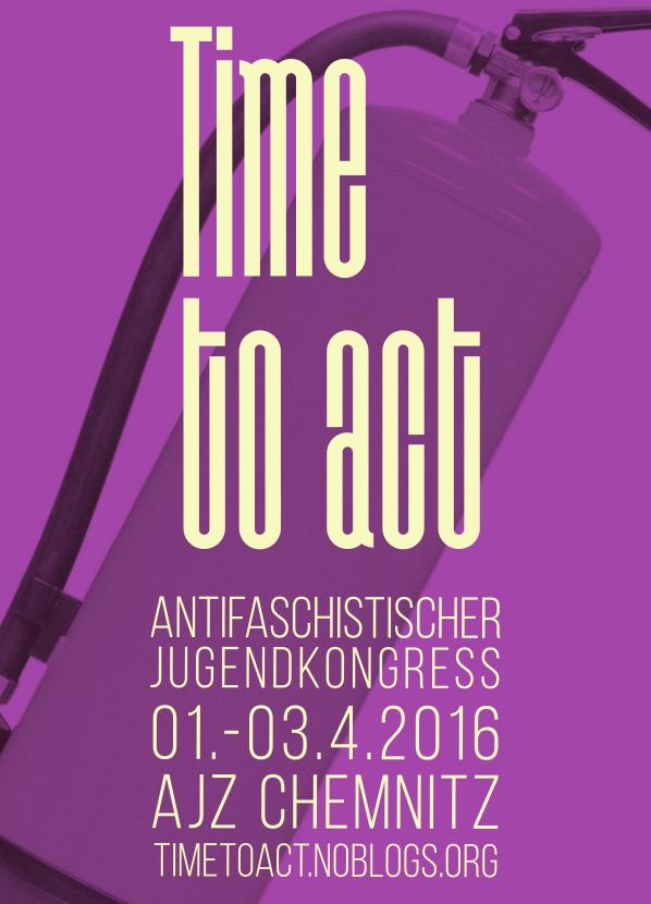 Plakat vom Antifaschistischen Jugendkongress